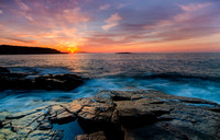Acadia National Park Photograph of Sun Rising over coast and park loop road