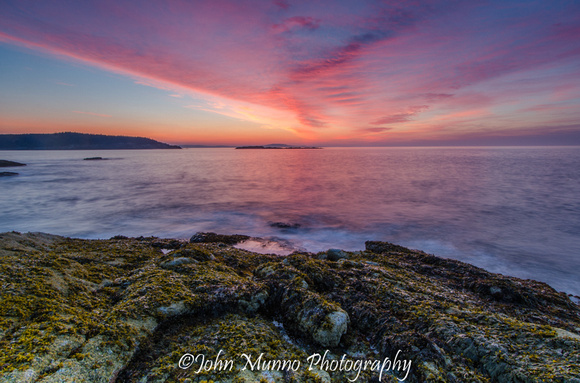 Sunrise over the Atlantic Ocean, Acadia National Park, Maine