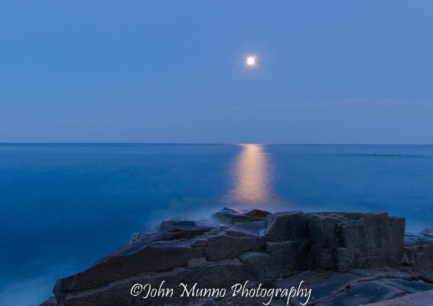 Moonrise over Acadia National Park.