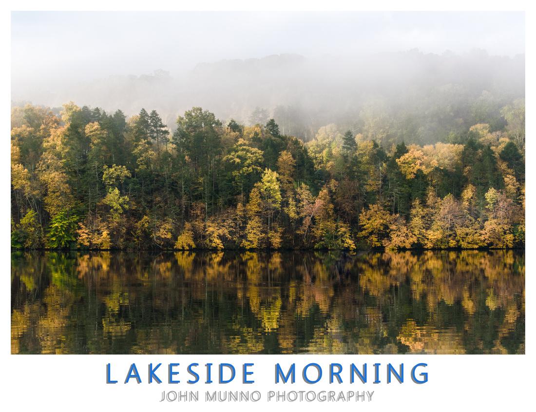 Lake Zoar Reflections Poster