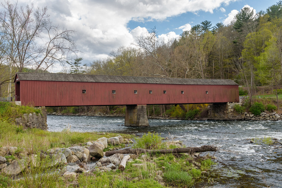Cornwall  Covered Bridge in Spring