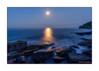 Greeting Card of Moonrise at Acadia National Park, Maine