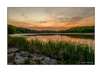 Long Meadow Pond Sunset Greeting Card