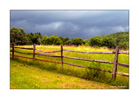Field in Storm Greeting Card