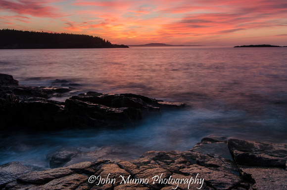 Landscape Phogography of Sunrise over Acadia National Park