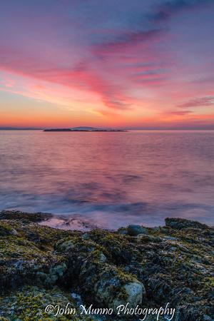 Sunrise over Acadia National Park, Bar Harbor Maine