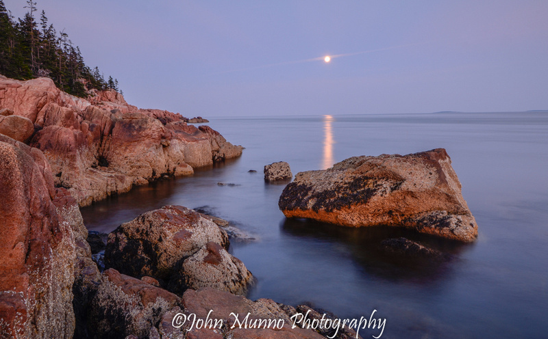 Moonrise over Acadia National Park, Bass Head