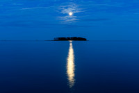 Moonrise over Charles Island Milford Connecticut