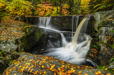 Autumn colors at Enders Falls, Enders Forest, Granby, Connecticut