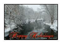 Pomperaug Snow Holiday Card