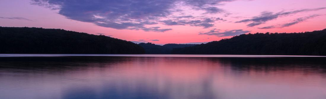 Lake Lilinoah Sunset Banner
